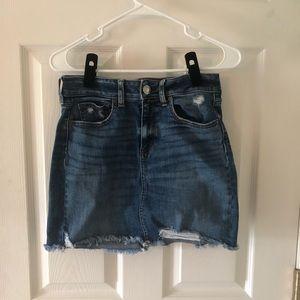 RARELY WORN AEO Long Denim Skirt